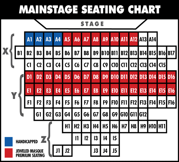 Fountain HIlls Theater Mainstage seating chart