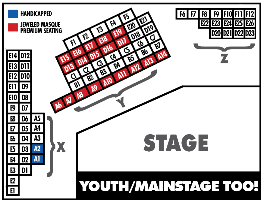 Fountain HIlls Theater Mainstage Too! & Youth Theater seating chart