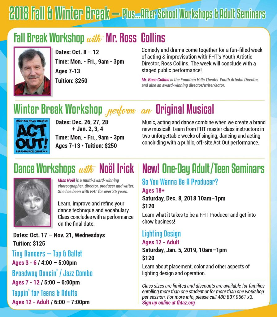 Fountain Hills Theater Performing Arts Camps
