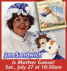 Jan Sandwich is Mother Goose at Fountain Hills Theater